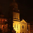 Church at night by David  Geerlings