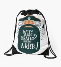 Why Are Pirate??? Drawstring Bag