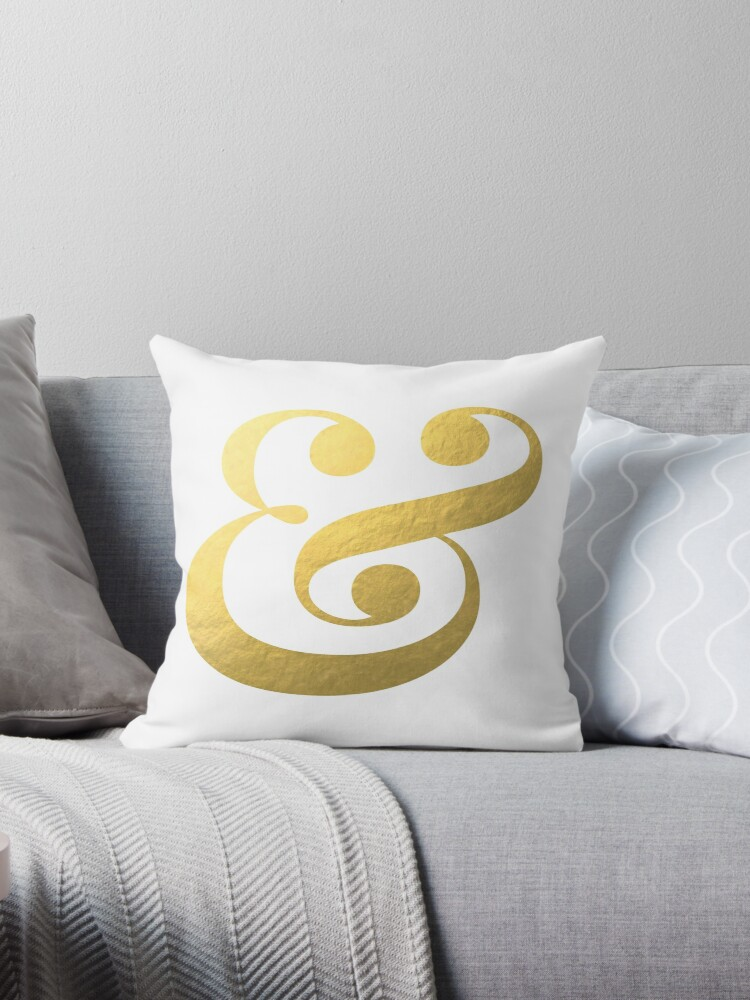 Ampersand & And - Faux Gold Foil by mystylerepublic