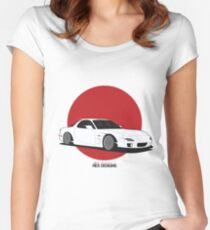 Mazda RX7 (Rising Sun) Women's Fitted Scoop T-Shirt