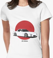 Mazda RX7 (Rising Sun) Women's Fitted T-Shirt