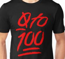 0 To 100 [Red] Unisex T-Shirt