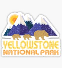 Yellowstone National Park Grizzly Bear and Cubs Sticker