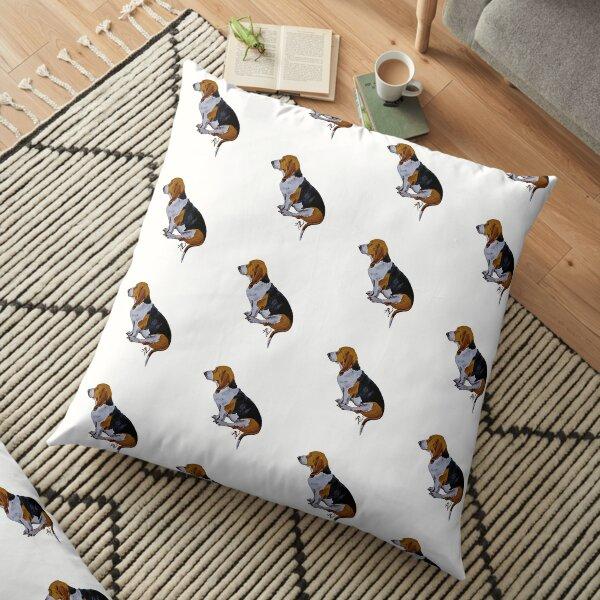 PillowPaws: sitting Basset  Floor Pillow