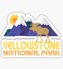 Yellowstone National Park Moose Mountain Landscape Sticker