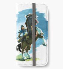 Link on Epona Legend of Zelda Breath of the Wild iPhone Wallet/Case/Skin