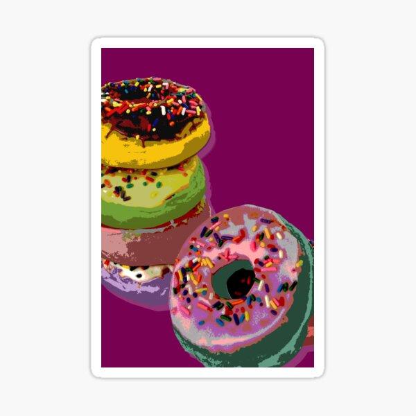 6 donuts Pop Art print Sticker