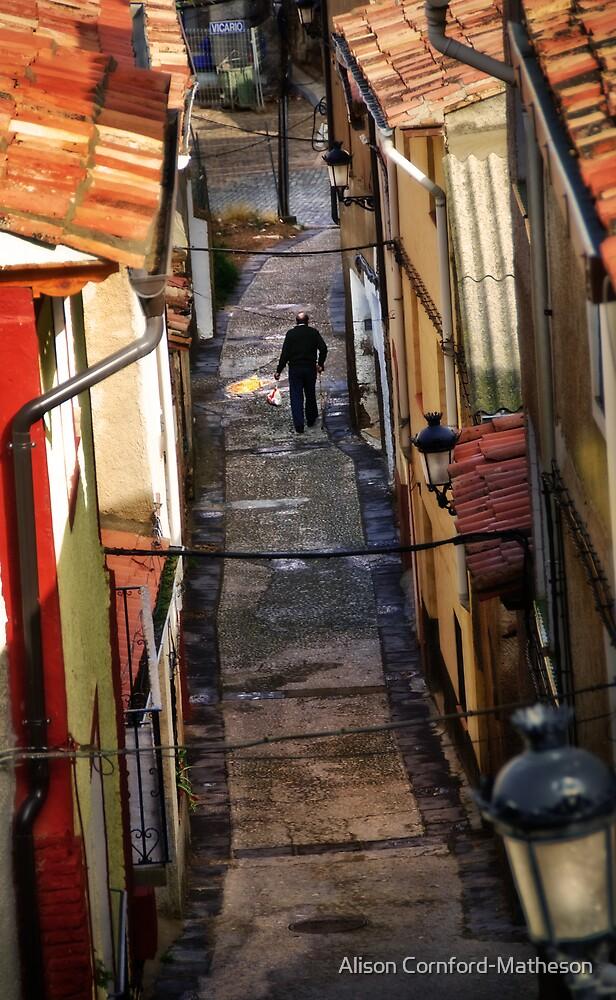 Street in Daroca, Spain  by Alison Cornford-Matheson
