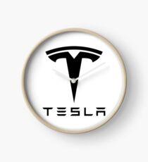 tesla electronic car Clock
