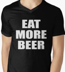 Funny Eat More Beer Shirt for Drinking, Parties, and Brewmasters Men's V-Neck T-Shirt