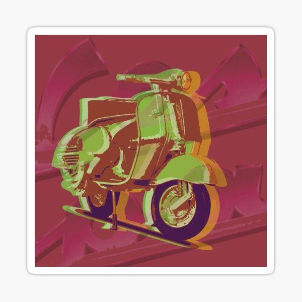 Custom pop art - Vespa Sticker
