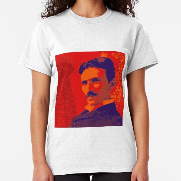 Nikola Tesla by popartworks Classic T-Shirt