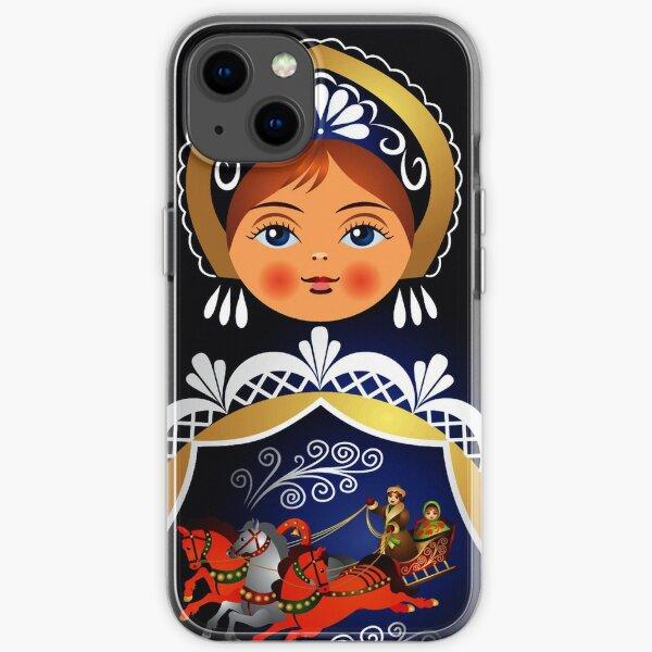 Babushka Matryoshka Russian Doll  iPhone Soft Case