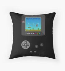 Retro Nintendo Game Boy Super Mario  Throw Pillow