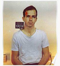 Lee Harvey Oswald Mug Shot Nov 22 1963 Vertical Color PAINTING Poster
