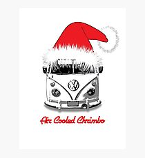 Camper Air Cooled Christmas Photographic Print