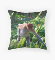 Proboscis Throw Pillow