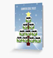 Camper Cool Yule Christmas Greeting Card
