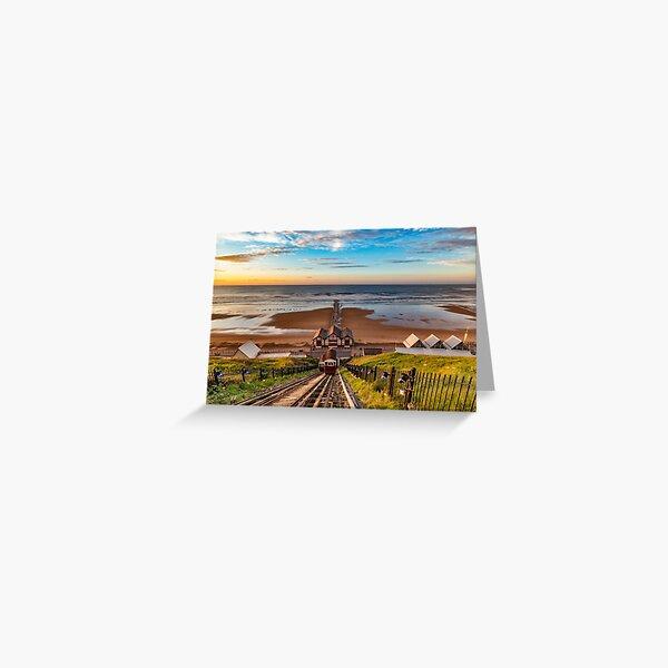 Looking Down on Saltburn Pier Greeting Card
