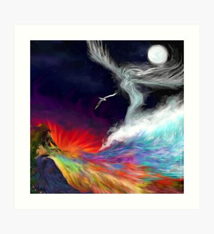 Colours Of The imagination: Symbolic Flows Art Print
