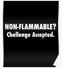 Non-Flammable? Challenge Accepted  Poster