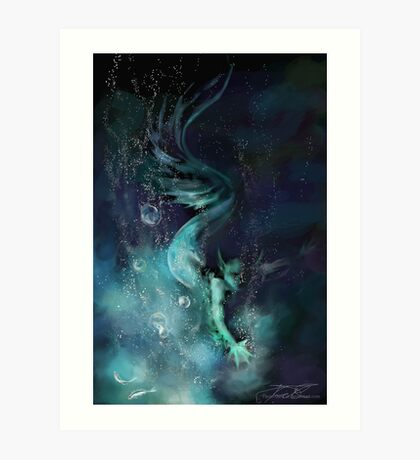 Blue Waters Art Print