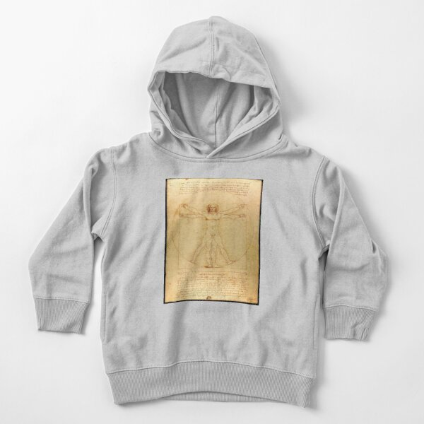 Vitruvian man, Naked man waving his arms and legs #NakedMan #LeonardodaVinci #VitruvianMan #Vitruvian Toddler Pullover Hoodie