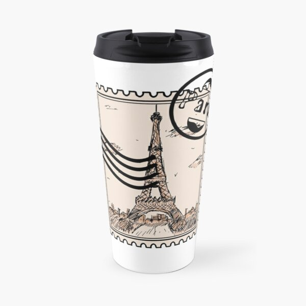 Paris Stamp Travel Mug