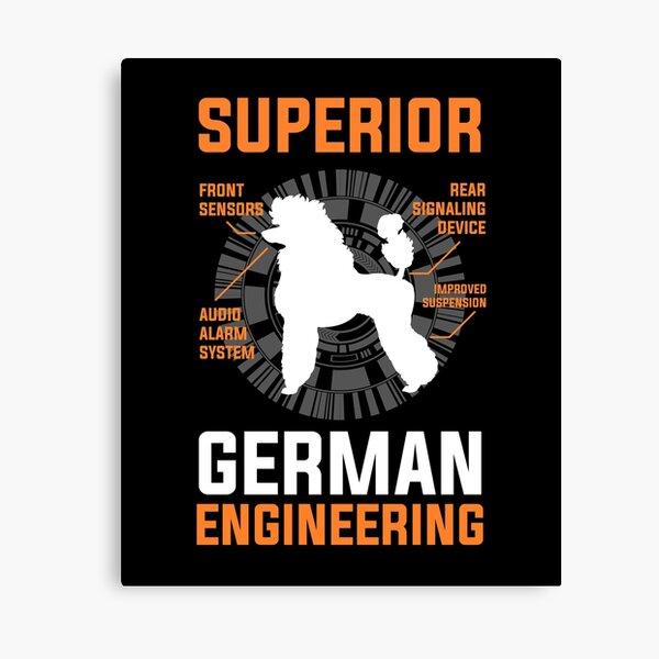Superior German Poodle Engineering Canvas Print