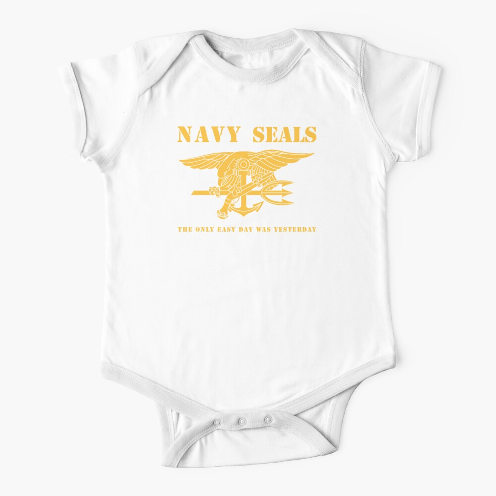 Navy SEALs Stencil Baby One-Piece