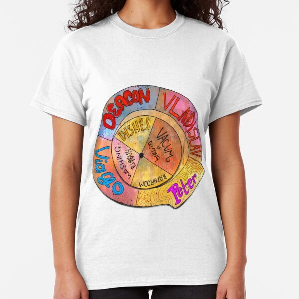 What We Do in the Shadows Chore Wheel Classic T-Shirt