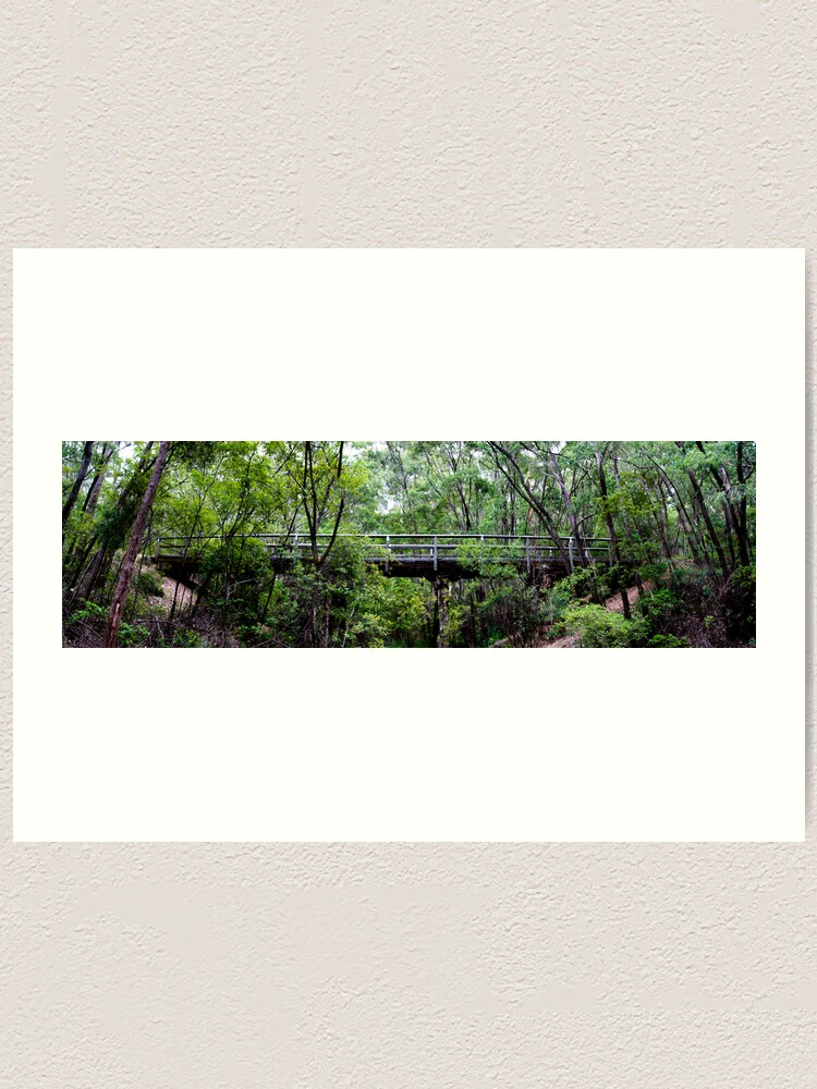 Alternate view of Old railway bridge Art Print