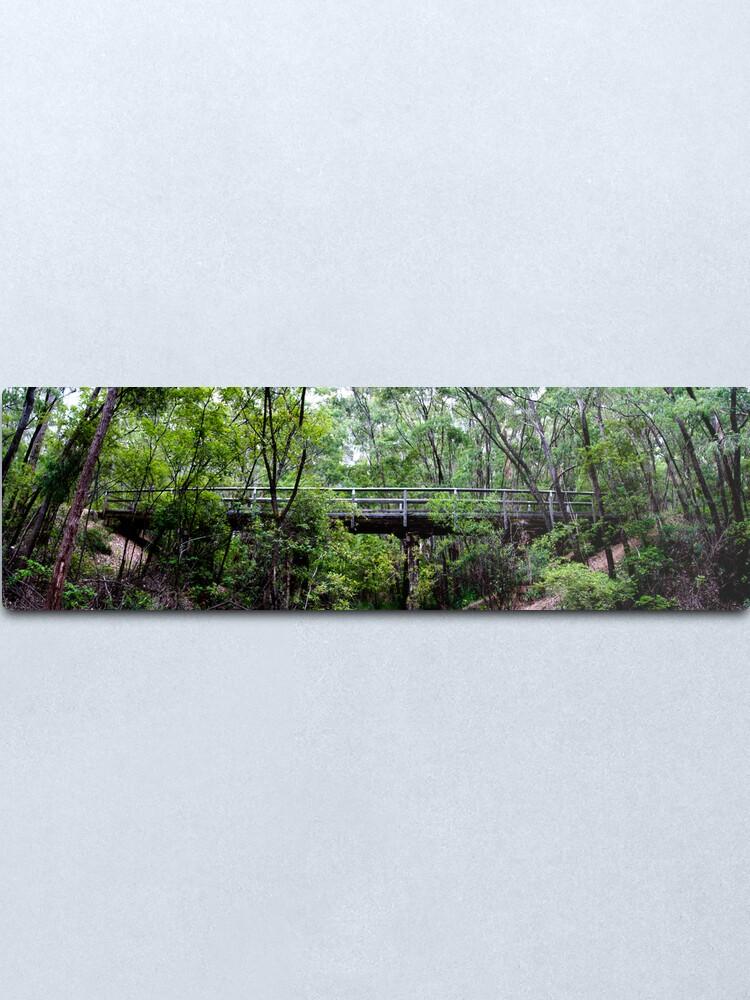 Alternate view of Old railway bridge Metal Print