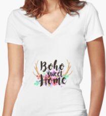 Boho sweet Home Camiseta entallada de cuello en V