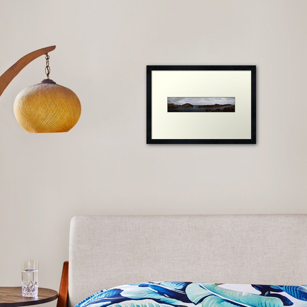 Canal Rocks panorama Framed Art Print