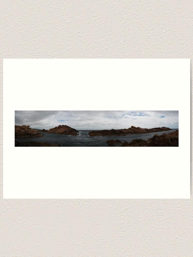 Alternate view of Canal Rocks panorama Art Print
