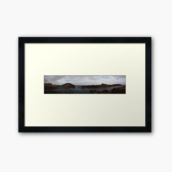 Canal Rocks panorama Framed Art Print