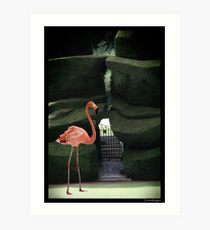 A game of croquet  Art Print