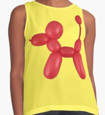 Red Balloon Dog Contrast Tank
