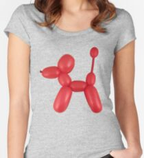 Red Balloon Dog Women's Fitted Scoop T-Shirt