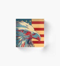 American Patriotic Eagle Bald Acrylic Block