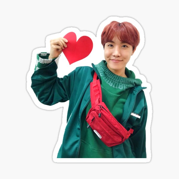bts jhope with love :,) Sticker