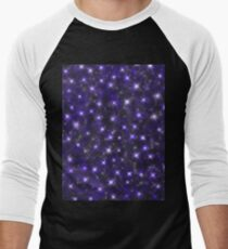 Ultra Violet Starry Sky  Men's Baseball ¾ T-Shirt
