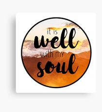 It is Well with My Soul - circle mountain scene Canvas Print