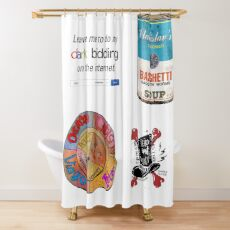 What We Do in the Shadows Sticker Pack Shower Curtain
