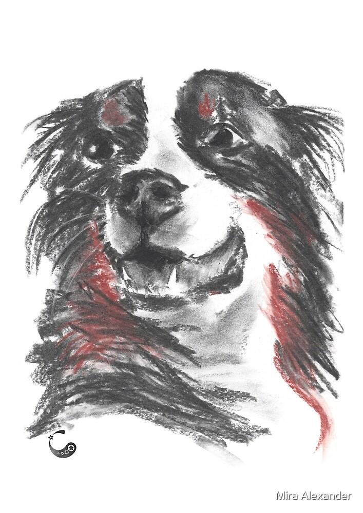 Hund (Sticker) (Kohle / Charcoal Animals) von Mira Alexander
