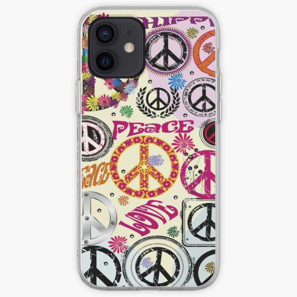 Flower Power Peace And Love Hippie  iPhone Soft Case