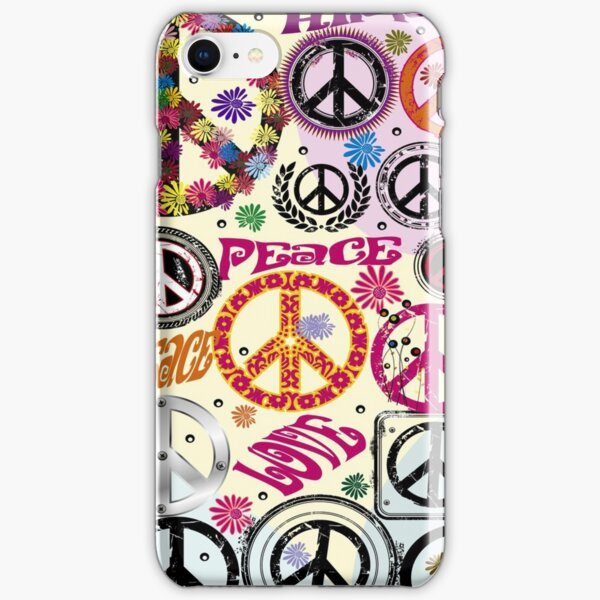 Flower Power Peace And Love Hippie  iPhone Snap Case