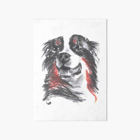 Dog (Charcoal Animals) Art Board Print