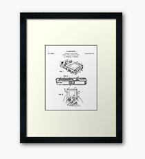 Gameboy Patent Drawing Blueprint Framed Print